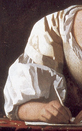 Detail_woman _writing_a_letter_with_her_maid