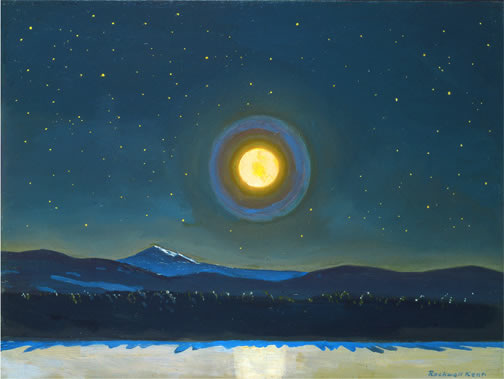 Moonlight in the Adks Rockwell Kent
