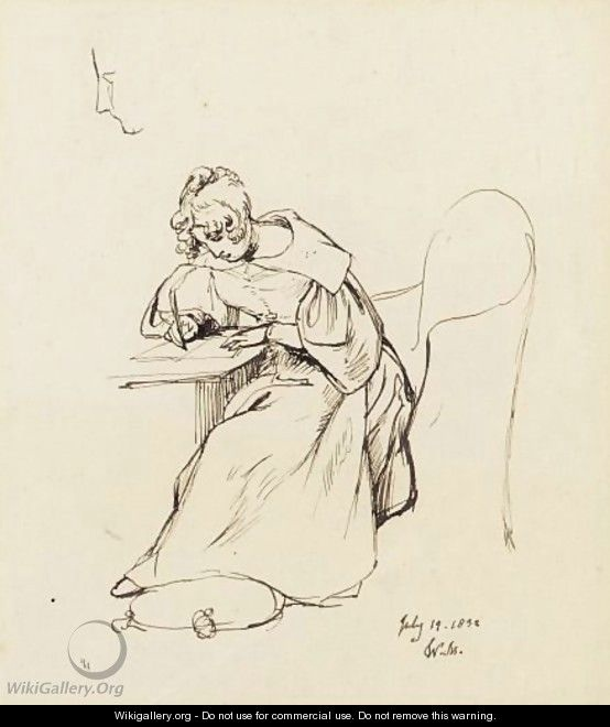 Mulready_Young-Woman-Writing-A-Letter